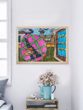Load image into Gallery viewer, City XVIII Illustration Print in a modern interior room