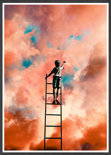 Cloud Painting Art Collage Print