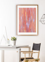 Load image into Gallery viewer, Fireworks Night Sky Art Print in gorgeous studio room