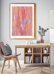 Fireworks Night Sky Art Print in a stunning dining area