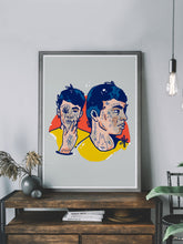Load image into Gallery viewer, Geminis Tatu Double Unique Graffiti Print in a stylish room