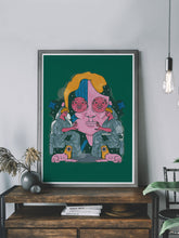 Load image into Gallery viewer, Grecia Classique Vector Illustration Portrait in a trendy interior space