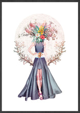 Load image into Gallery viewer, Lady Flower No3 Flower Collage Art