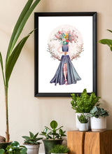 Load image into Gallery viewer, Lady Flower No3 Flower Art Print