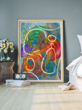 Load image into Gallery viewer, Liceto Abstract Painting in a gorgeous bedroom