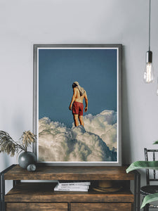 Man the Cloud Surreal Art Print