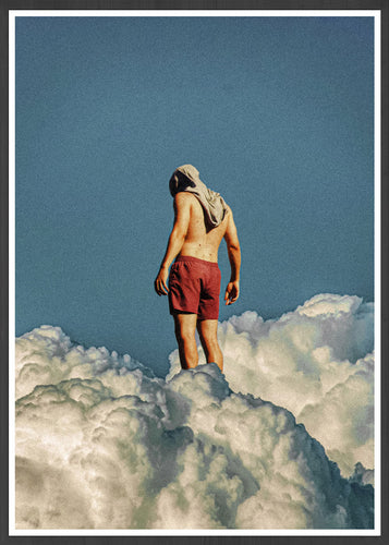 Man the Cloud Surreal Collage Art