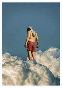 Man the Cloud Collage Poster
