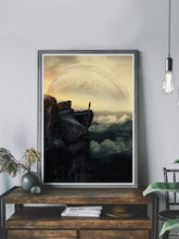 Load image into Gallery viewer, Moonstruck Sci-fi Collage Art Poster