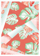 Load image into Gallery viewer, Stunning Monstera Coral Botanical Pattern Print