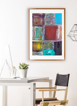 Load image into Gallery viewer, Organised Chaos Print in modern room interior