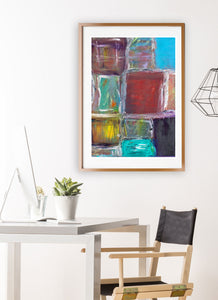 Organised Chaos Print in modern room interior