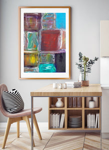 Organised Chaos Wall Art in amazing dining room interior