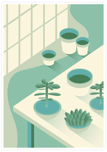 The Potting Shed Plant Art Print not in a frame