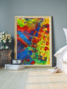 Rezzo Acrylic Abstract Art in a modern room