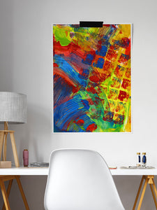 Rezzo Acrylic Abstract Art in a studio room