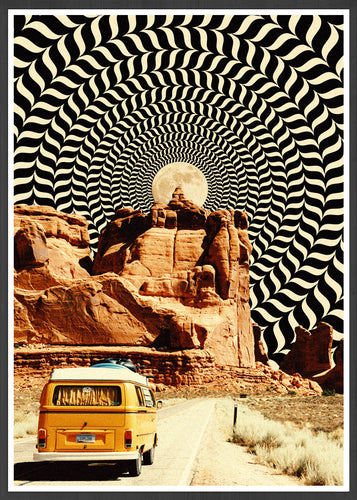 Road Trip Surreal Art Print
