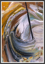 Load image into Gallery viewer, Scorched Earth Abstract Painting in a frame