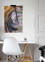 Load image into Gallery viewer, Scorched Earth Abstract Painting in a trendy room interior