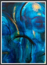 Load image into Gallery viewer, Sea of Melancholy II Blue Abstract Print