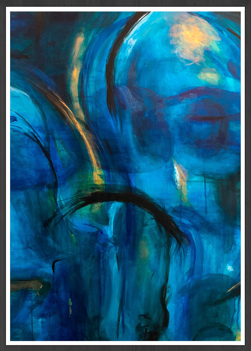 Sea of Melancholy II Blue Abstract Print