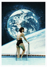 Load image into Gallery viewer, Space Pool Surreal Poster Print