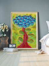 Load image into Gallery viewer, Spiralbero Spiral Abstract Art in a bedroom