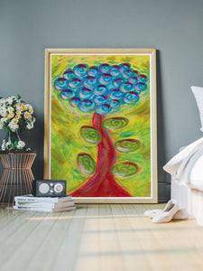 Spiralbero Spiral Abstract Art in a bedroom