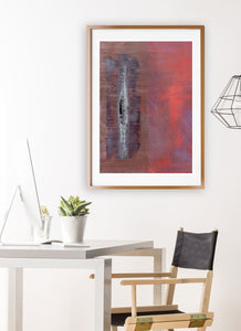 Thunderball Abstract Wall Art in studio space