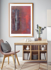 Thunderball Abstract Print in Dining Area