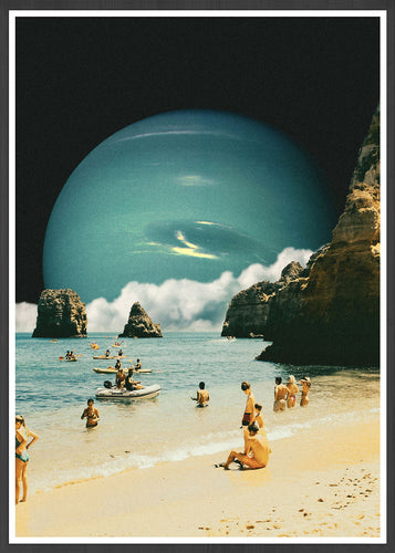 Time for a Swim Space Collage Print