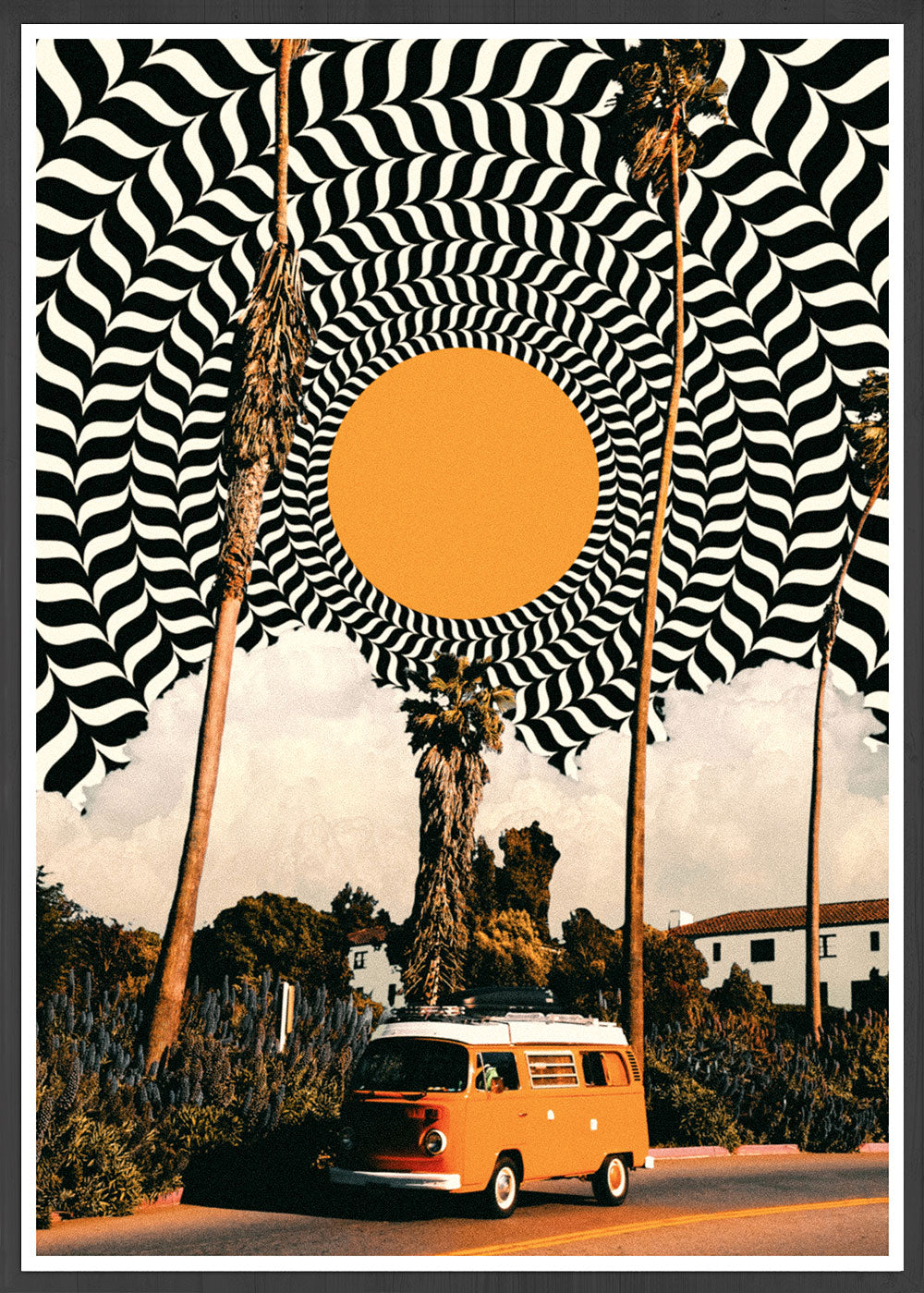 Where we going? Collage Art Poster