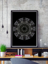 Load image into Gallery viewer, Aidoru Pattern Art Print in a frame on a shelf