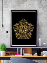 Load image into Gallery viewer, Akira Mandala Wall Art in a frame on a shelf