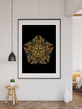 Load image into Gallery viewer, Akira Mandala Wall Art large print on a wall
