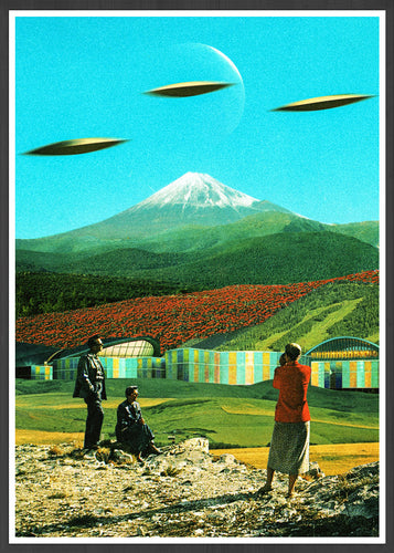 Alien Invasion Art Collage Print