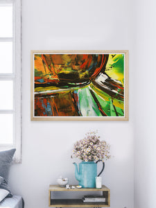 Aliencraft Surreal Abstract Print in a bedroom