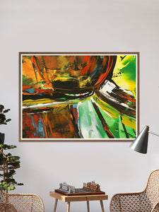 Aliencraft Surreal Abstract Print in traditional room