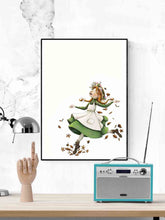 Load image into Gallery viewer, Anna with an E Childrens Art in a frame on a wall
