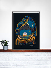 Load image into Gallery viewer, Autumn Art Print Digital Illustration in a frame on a shelf