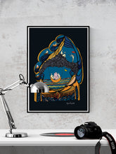 Load image into Gallery viewer, Autumn Art Print Digital Illustration in a frame on a wall