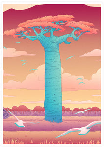 Grandidiers Baobab Tree Wall Art