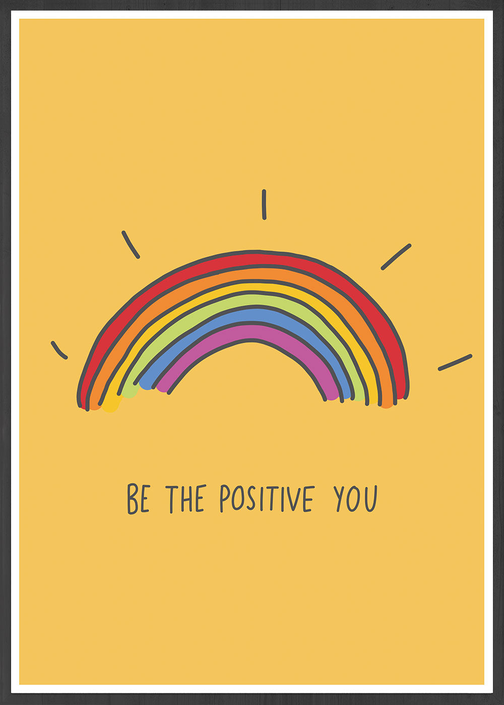 Be The Positive You Quote Print in a frame