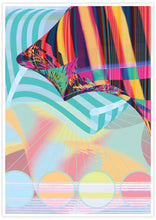 Load image into Gallery viewer, Beach Blanketed Glitch Art Print not in a frame