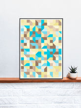 Load image into Gallery viewer, Beach Metric Abstract Art Print on a Shelf