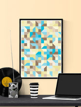 Load image into Gallery viewer, Beach Metric Abstract Art Print in a frame on a wall