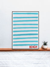 Load image into Gallery viewer, Beach Quirky Art Print on a Shelf