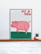 Load image into Gallery viewer, Best in Show Animal Art Print on a Shelf