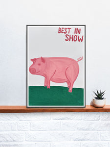 Best in Show Animal Art Print on a Shelf