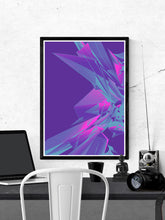 Load image into Gallery viewer, Blend Glitch Art Print on a wall